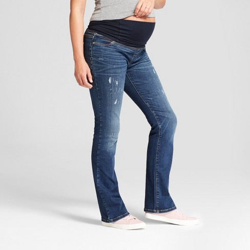 4e349692dce9a Maternity Crossover Panel Bootcut Jeans - Isabel Maternity By Ingrid ...