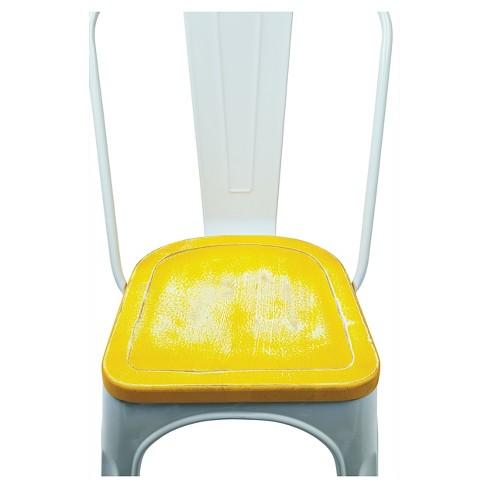 Super Set Of 2 Bristow Distressed Wood Seat Chair Metal White Osp Home Furnishings Osp Home Furnishings Uwap Interior Chair Design Uwaporg