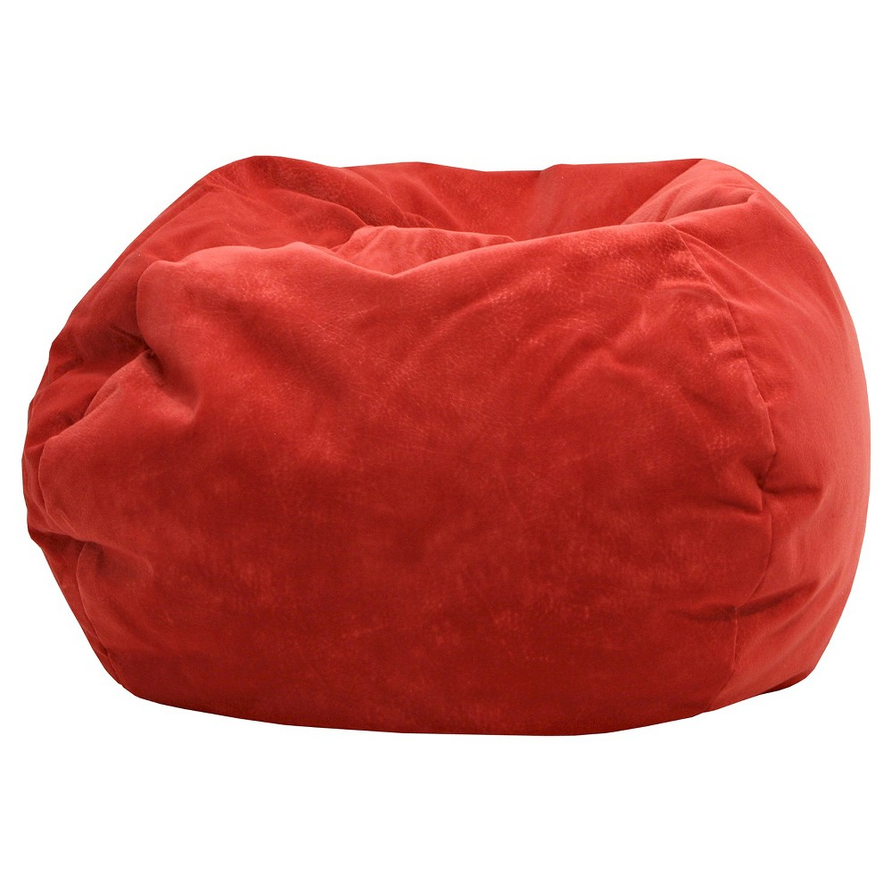 Magnificent Gold Medal Micro Fiber Suede Bean Bag Chair Red Gmtry Best Dining Table And Chair Ideas Images Gmtryco