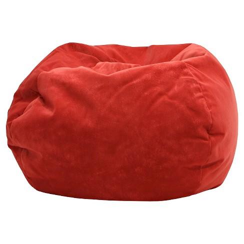 Gold Medal Micro Fiber Suede Bean Bag Chair Red Target