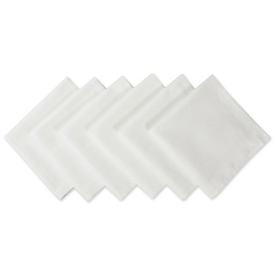 6pk Polyester Napkins White - Design Imports