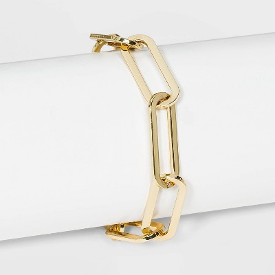 SUGARFIX by BaubleBar Oversized Link Chain Bracelet - Gold