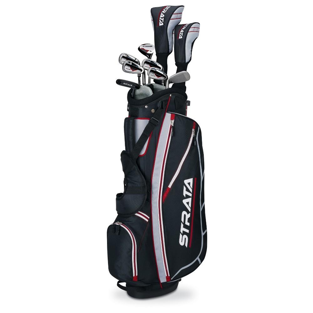 Strata Men's Left Handed Golf Club Sets, Black