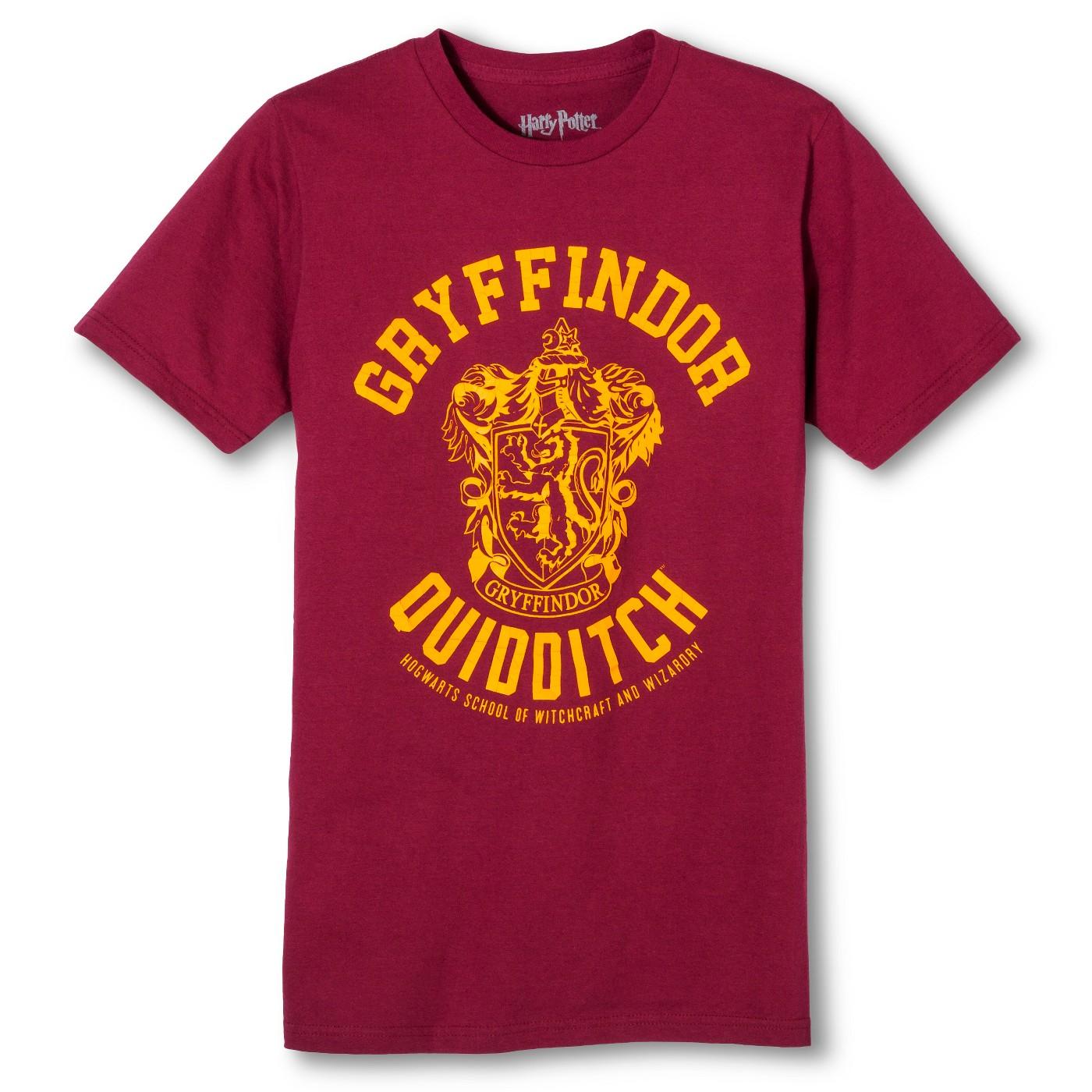 Men's Harry Potter® Gryffindor Quidditch Team T-Shirt - Burgundy - image 1 of 1