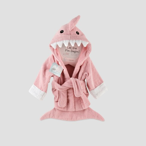 Baby Aspen Let The Fin Begin Shark Robe - Pink 0-9M   Target d4da040de