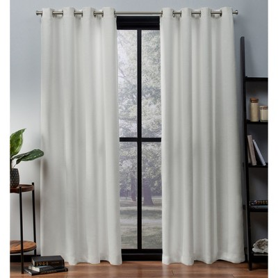 Exclusive Home Oxford Textured Sateen Thermal Room Darkening Grommet Top Window Curtain Panel Pair by Exclusive Home