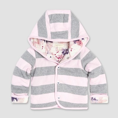 Burt's Bees Baby Girls' Organic Cotton Exploded Petals Reversible Quilted Jacket - Blossom 0-3M
