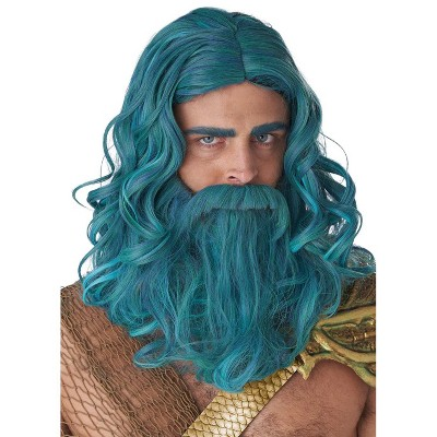 California Costumes Ocean King Adult Wig and Beard Set