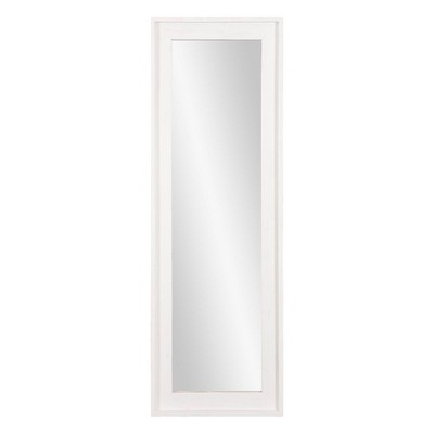 """19"""" x 57"""" White Washed Framed Full Length Wall or Leaner Mirror White - Patton Wall Decor"""