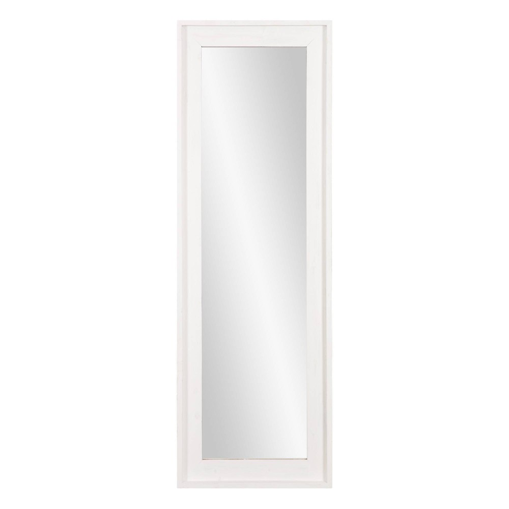 "Image of ""19"""" x 57"""" White Washed Framed Full Length Wall or Leaner Mirror White - Patton Wall Decor"""