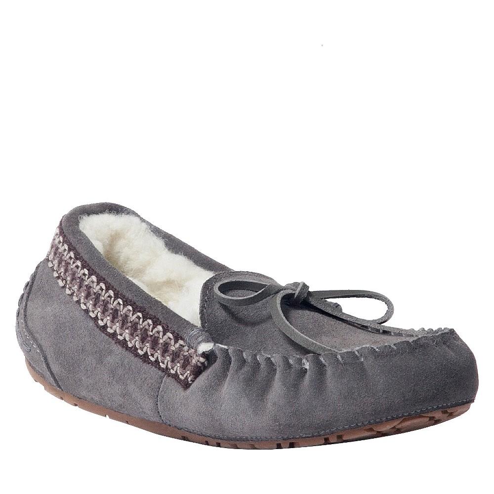 Women's Muk Luks Jane Moccasin Slippers - Gray 7