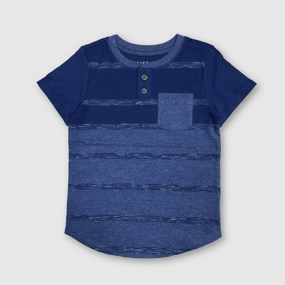 Toddler Boys' Striped Henley T-Shirt - Cat & Jack™ Navy