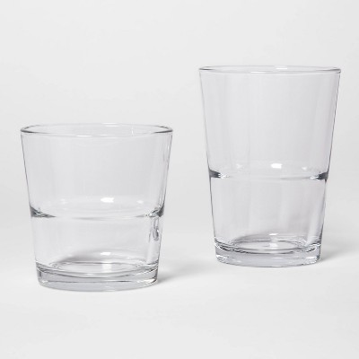 12pc Glass Tall and Short Tumbler Set - Made By Design™