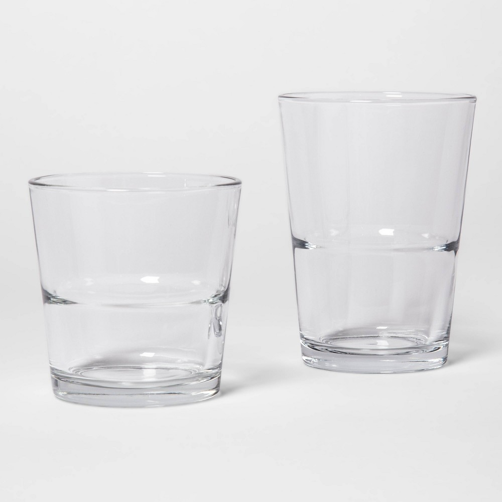Image of 12pc Glass Tall and Short Tumbler Set - Made By Design , Clear