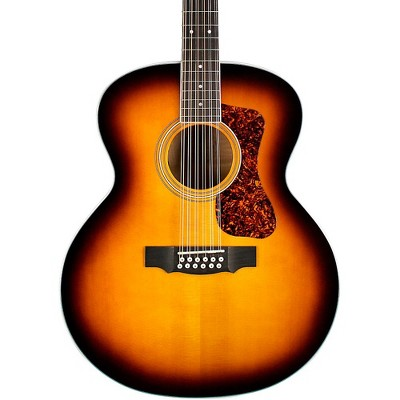 Guild F-2512E Deluxe Westerly Collection 12-String Jumbo Acoustic-Electric Guitar Antique Sunburst