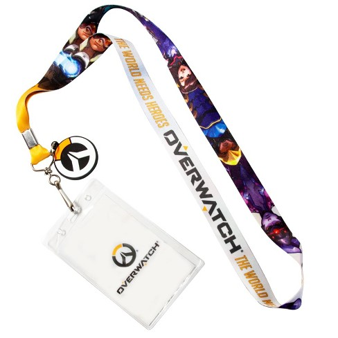 Surreal Entertainment OFFICIAL Overwatch Lanyard | Feat. D. Va & More | Includes ID Holder & Logo Coin - image 1 of 4