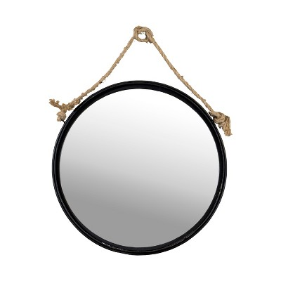 """Metal Round Hanging Mirror Wall Sign Panels Clear 18"""" x 18"""" - VIP Home & Garden"""