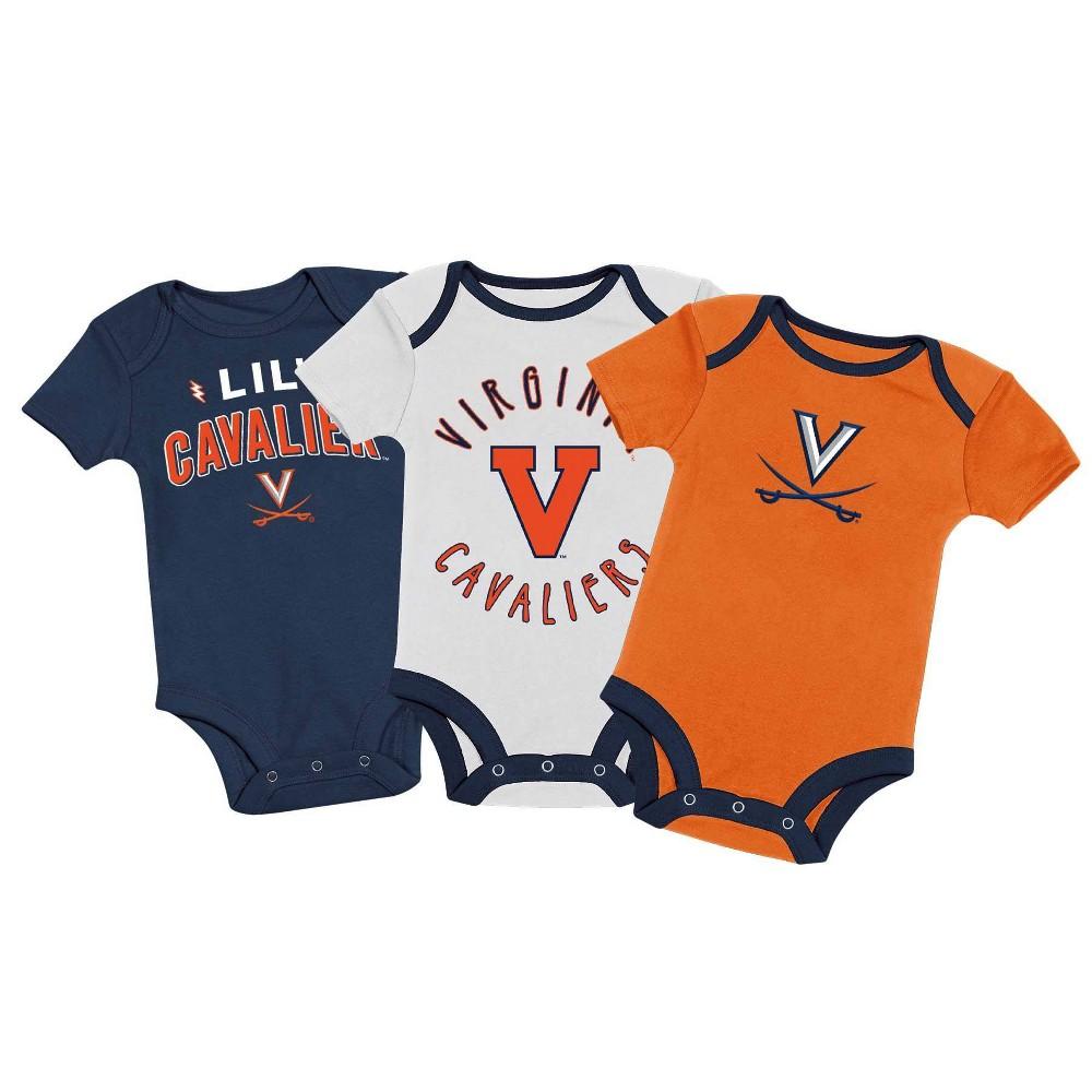 Ncaa Virginia Cavaliers Baby Boys 39 3pk Bodysuit Set 0 3m