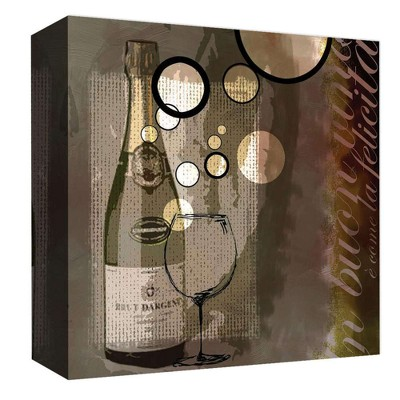 "16"" x 16"" Wine Bubble I Decorative Wall Art - PTM Images"