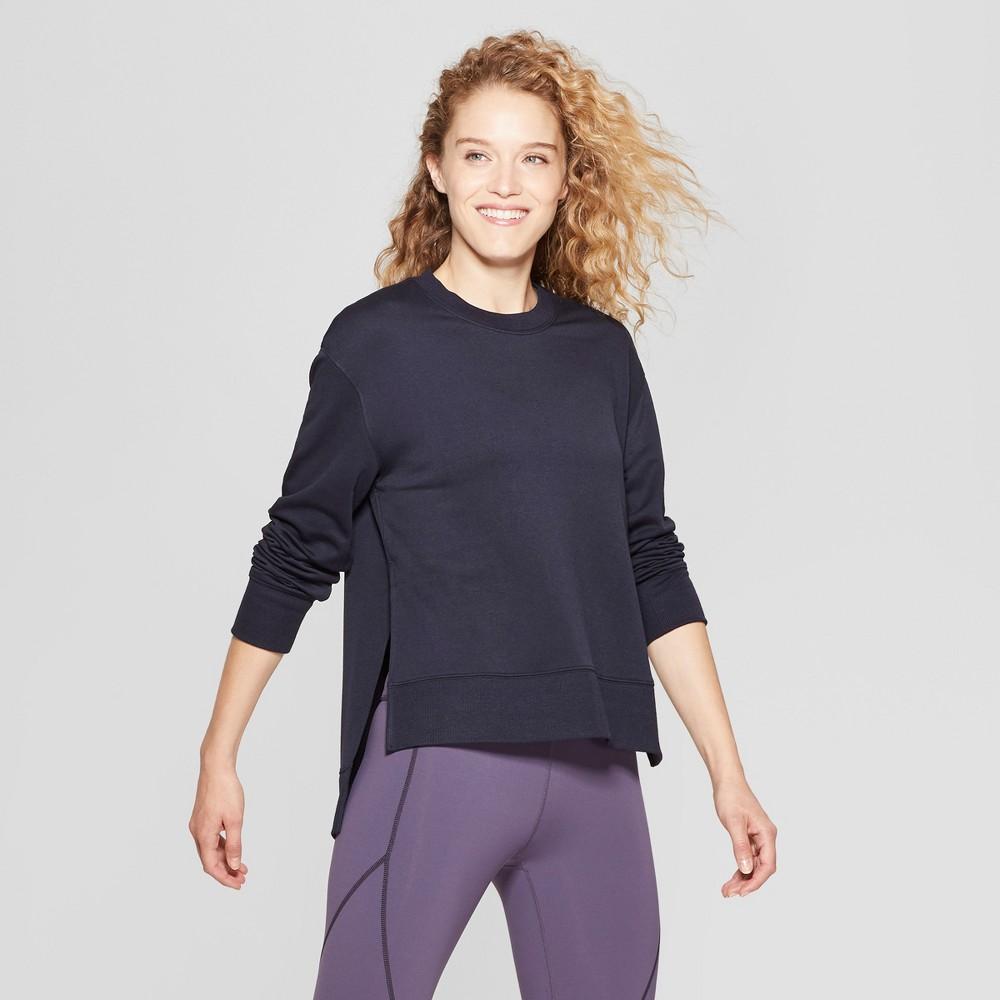 Women's Crew Neck Sweatshirt - JoyLab Cerulean Blue XL