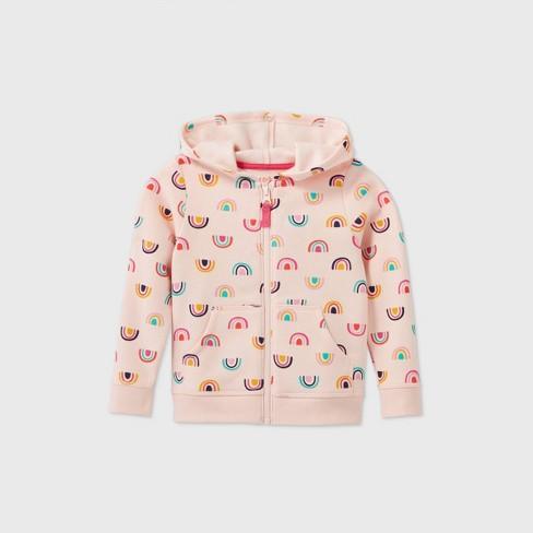 Toddler Girls' Printed Fleece Zip-Up Sweatshirt - Cat & Jack™ - image 1 of 2
