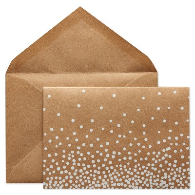 24ct Blank Cards with Envelopes White Dots - Spritz™