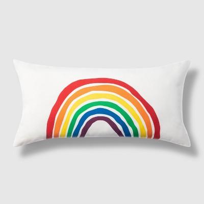 Lumbar Outdoor Throw Pillow Rainbow Sketch - Pride