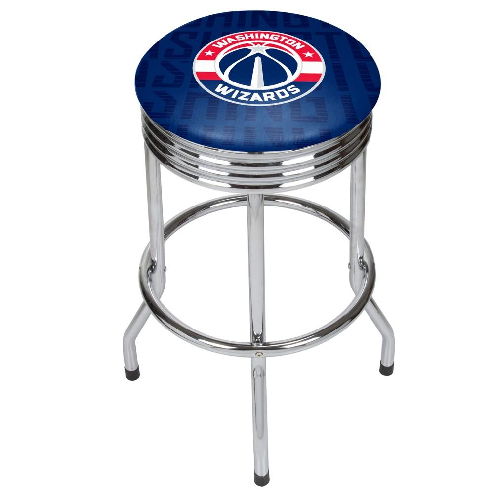 NBA Washington Wizards City Chrome Ribbed Bar Stool