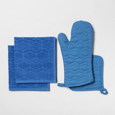 Kitchen Textile Set Blue - Room Essentials™