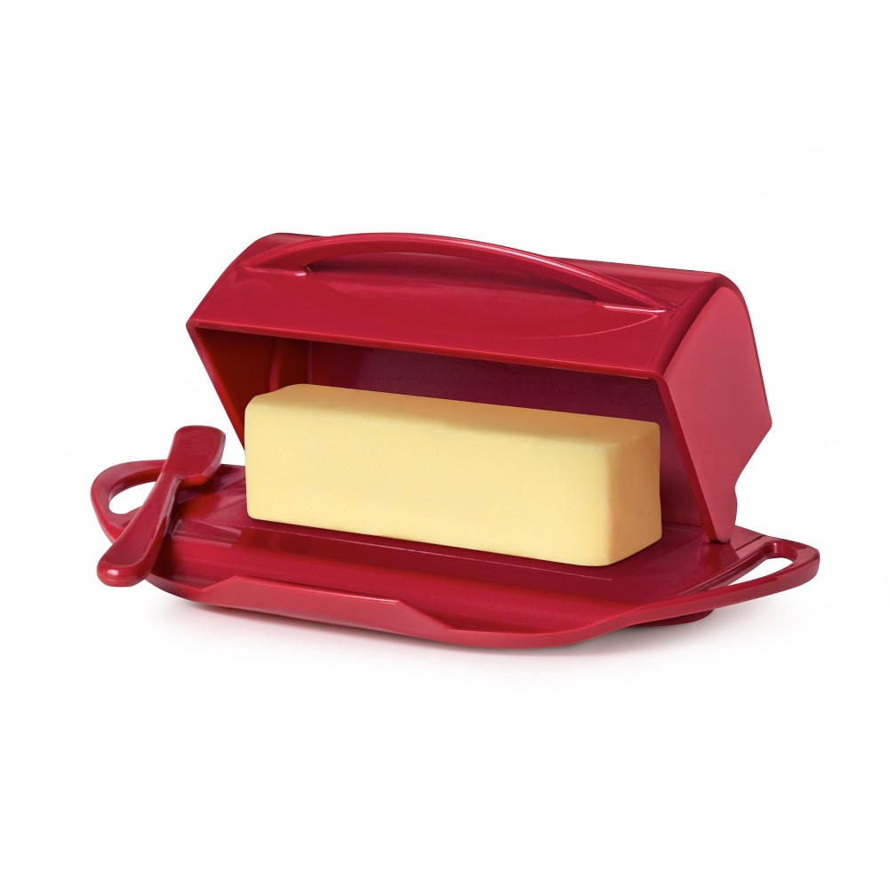 Image of 8oz Butter Dish Red - Butterie
