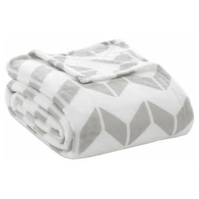 Chevron Plush Blanket (King)Gray
