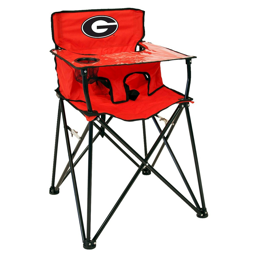 ciao! baby University of Georgia Bulldogs Portable High Chair in Red, Multi-Colored