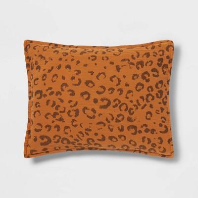 Leopard Spot Matelasse Pillow Sham Brown - Opalhouse™