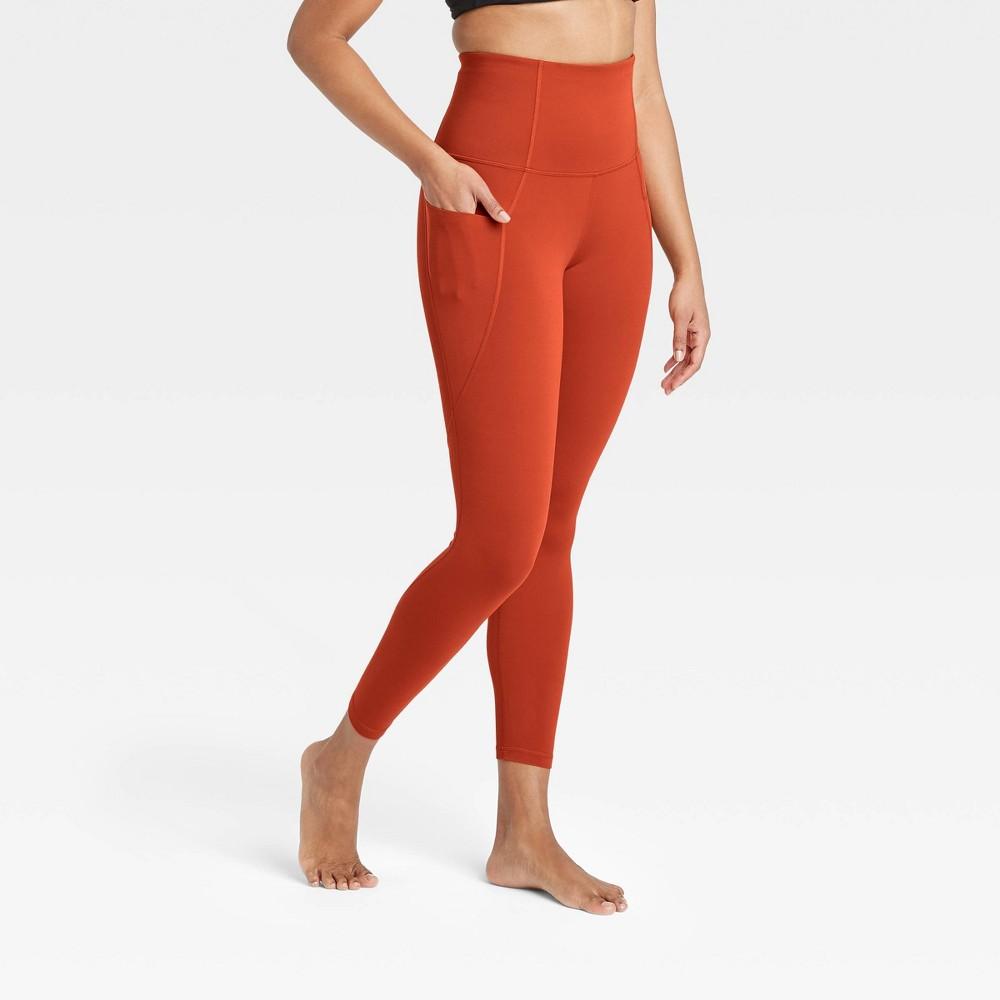 Women 39 S Contour Flex Ultra High Waisted 7 8 Leggings 25 34 All In Motion 8482 Bright Orange L