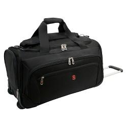 "SWISSGEAR Zurich 22"" Wheeled Duffel Bag - Black"