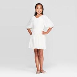 Girls' Bubble Sleeve Babydoll Dress - art class™
