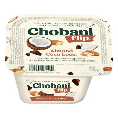 Chobani Flip Almond Coco Loco Low Fat Greek Yogurt - 5.3oz