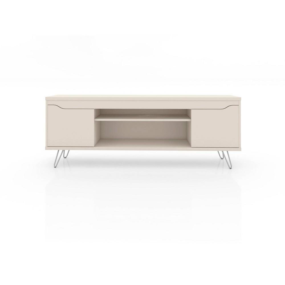60 Baxter TV Stand Off-White (Beige) - Manhattan Comfort