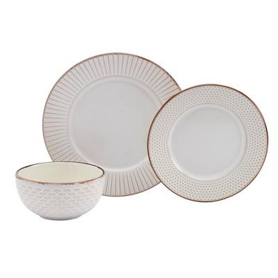 12pc Monroe Dinnerware Set - Tabletops Gallery