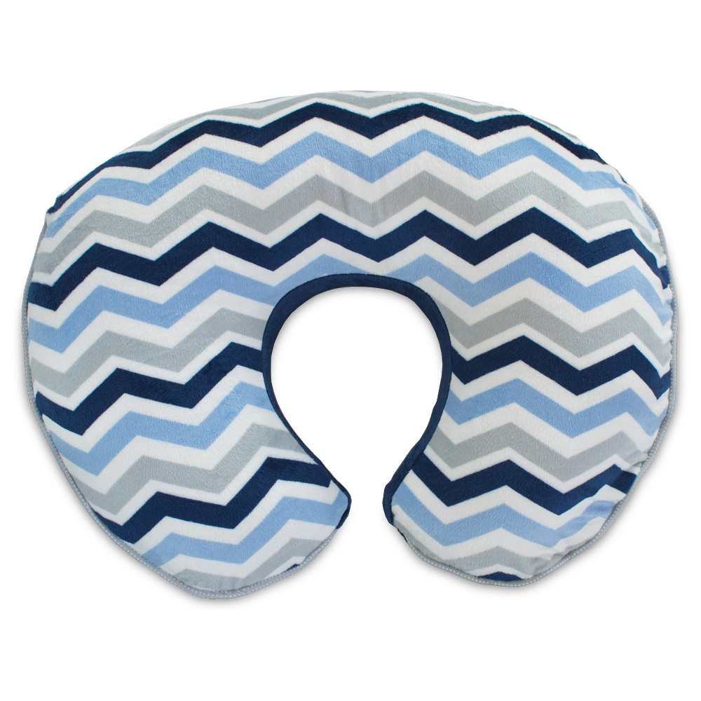 Image of Boppy Boutique Slipcover - Navy/Gray, Blue Gray