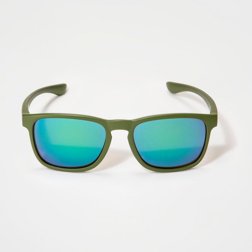 Image of Boys' Mirrored Wayfarer Sunglasses - Cat & Jack Green, Boy's