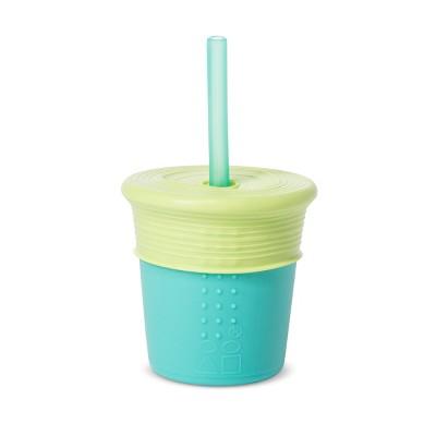 Silikids 8oz Silicone Straw Tumbler Blue/Green