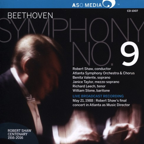 Atlanta symphony orc - Beethoven:Symphony no 9 (CD) - image 1 of 1