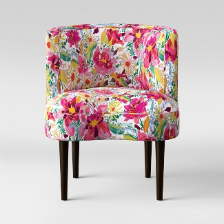 Clary Curved Back Accent Chair Bright Floral - Opalhouse™