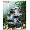 """13.25"""" Natural Water Rock Fountain with 4 Levels Stone Gray - Hi-Line Gift - image 2 of 2"""