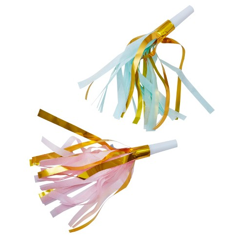 10ct Ginger Ray Gold Foil And Pastel Party Horns Pick And Mix - image 1 of 2