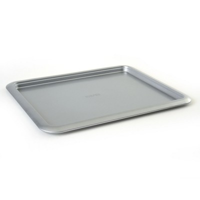 Norpro Non Stick 16.5 Inch Carbon Steel Rimmed Full Baking Cookie Sheet, Silver