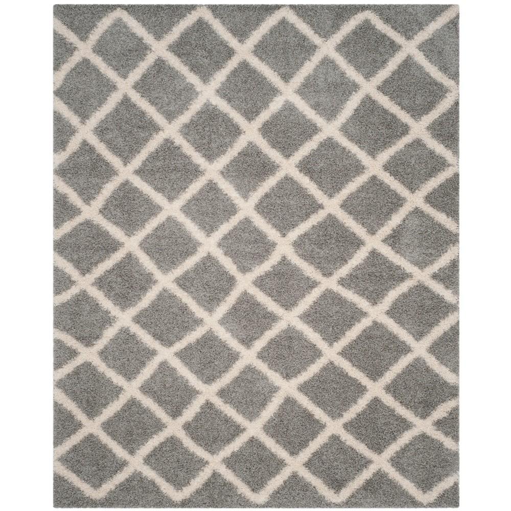 8'6X12' Geometric Loomed Area Rug Gray/Ivory - Safavieh