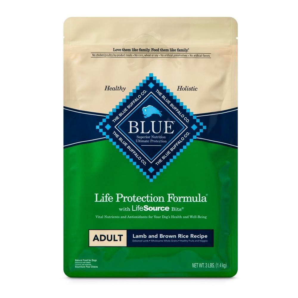 Blue Buffalo Adult Lamb & Brown Rice - Dry Dog Food - 3lb bag