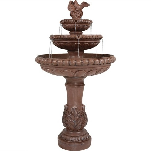 "43""H Dove Pair 3-Tier Outdoor Water Fountain - Sunnydaze Decor - image 1 of 4"